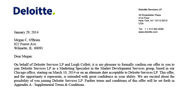 cover letter for deloitte - Deloitte Cover Letter